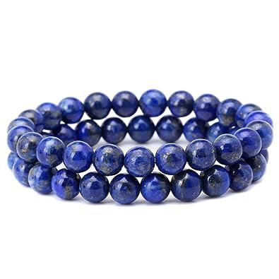 amazon com 8mm afghanistan lapis lazuli bracelet blue stone beads