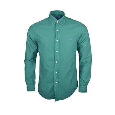 Ralph Lauren Chemise Oxford Verte Slim fit pour Homme  Amazon.fr  Vêtements  et accessoires f5ecc06af988