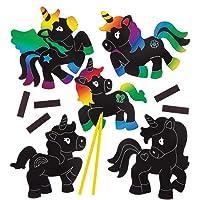 Unicorn Scratch Art Magnets (Pack of 10)