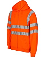 Hi Vis Hooded Sweatshirt High Visibility Reflective Safety Jacket Sweat shirts
