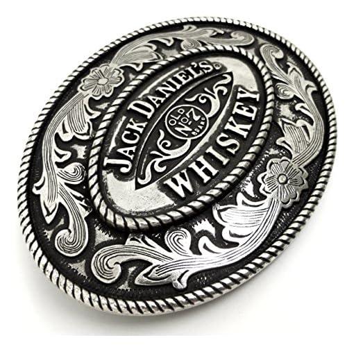Jack Daniel`s - Hebilla de cinturón - para hombre Plateado plata Talla única bSqwVticck