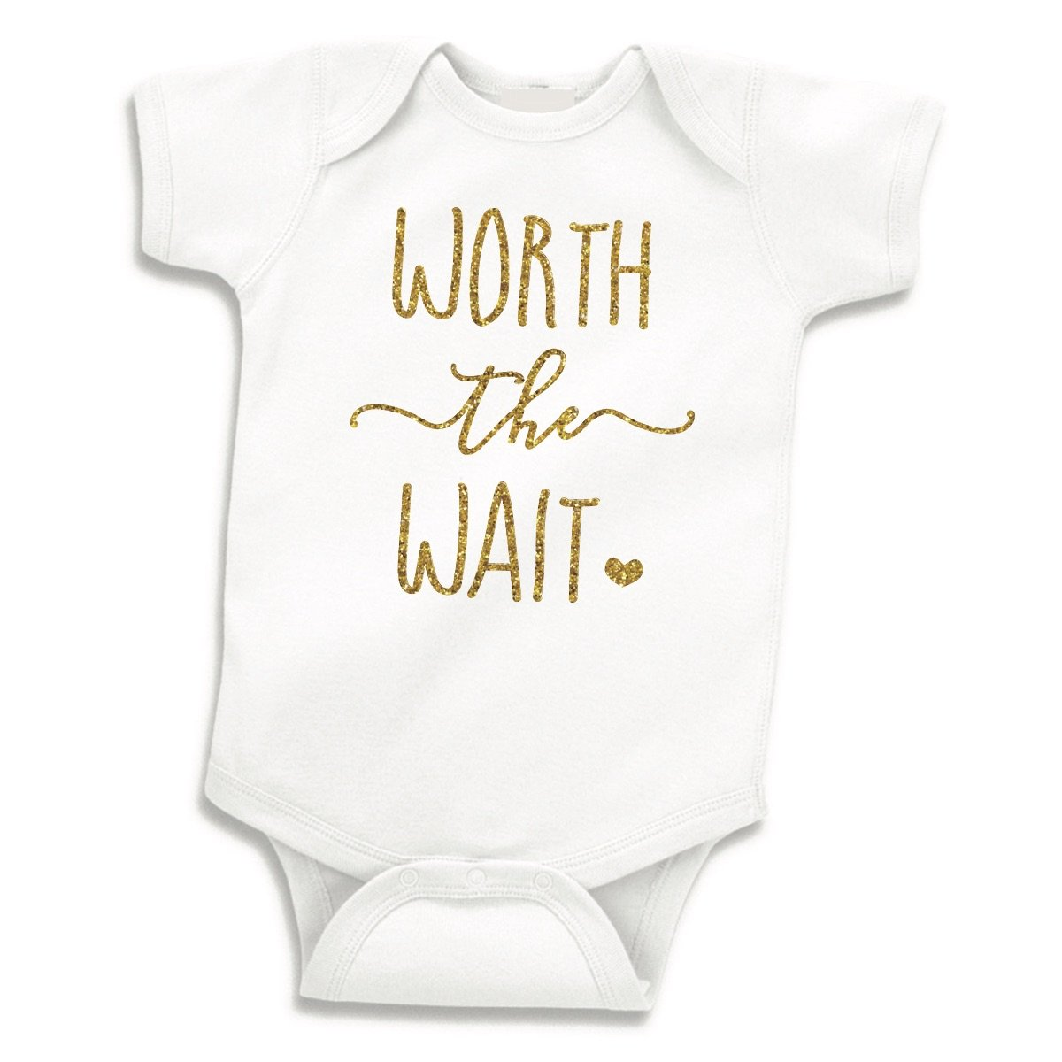 Bump and Beyond Designs Baby Girl Outfit Newborn Girl Bodysuit Worth The Wait (0-3 Months)