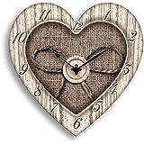Orologio da parete Heart shabby 30x30 cm white