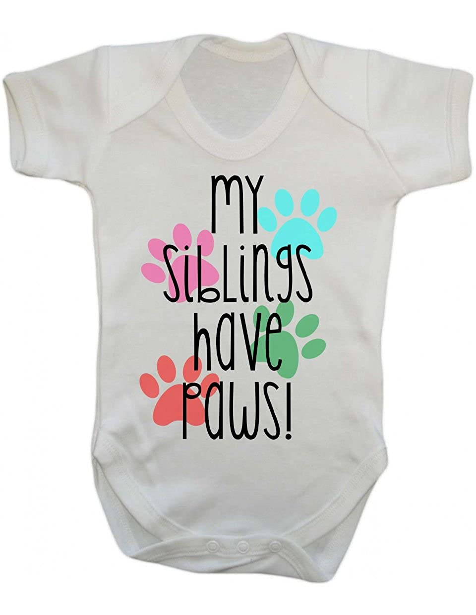 Siblings have paws ~ baby vest ~ new born baby ~ dog lover ~ animal lover ~ pets ~ pregnancy announcement ~ birth announcement