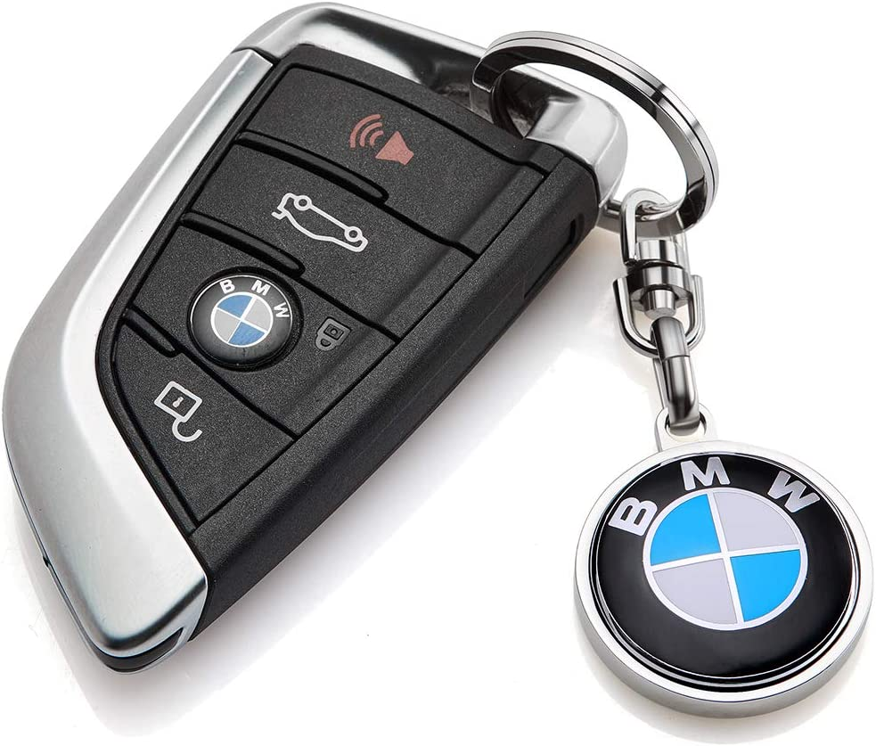 YANGYI BMW Key Chains 3D Metal Emblem Pendant Car Logo Key Ring for BMW Key Chain Accessories,Series Family Present for Man and Woman