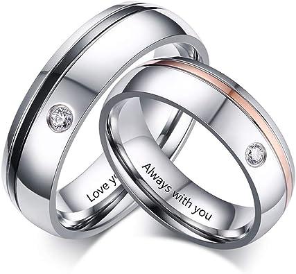 Amazon.com: Molywoo - Juego de anillos de pareja ...