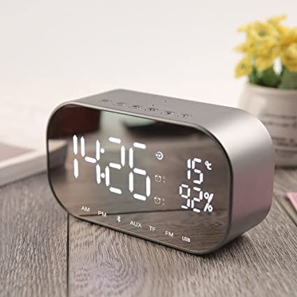 Amazon.com: Portable Bluetooth Speakers,Clock Radio Wireless ...
