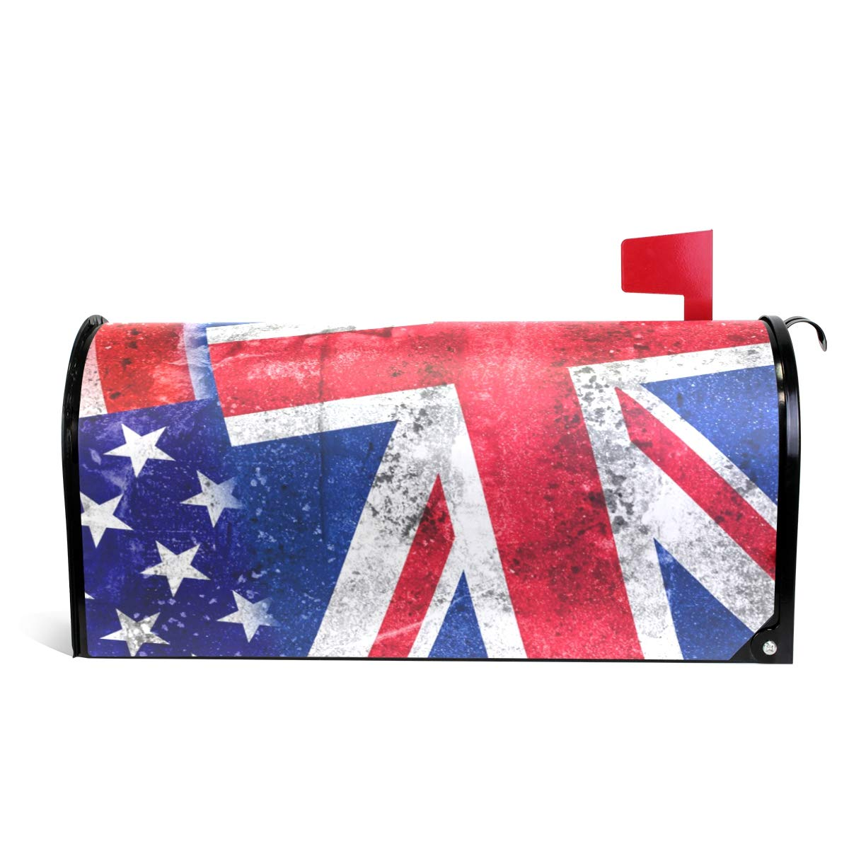 WOOR USA and Hawaii State Flag Magnetic Mailbox Cover Standard Size-18''x 20.8''
