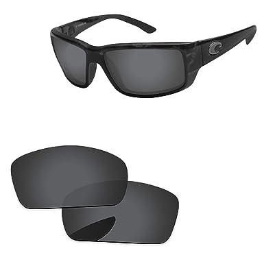 bb0452828eff PapaViva Lenses Replacement for Costa Del Mar Fantail Black Grey - Polarized