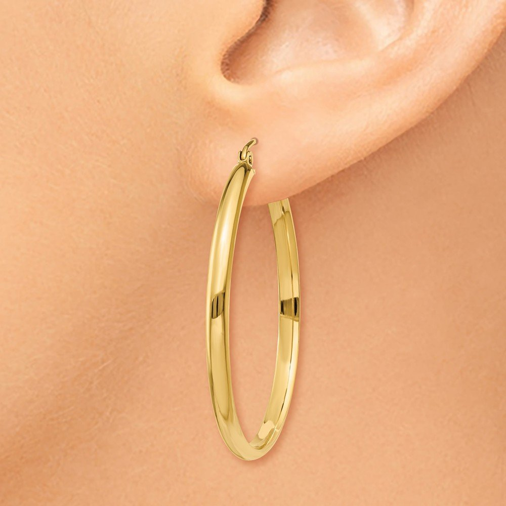 Mia Diamonds 14k Yellow Gold Polished Hoop Earring