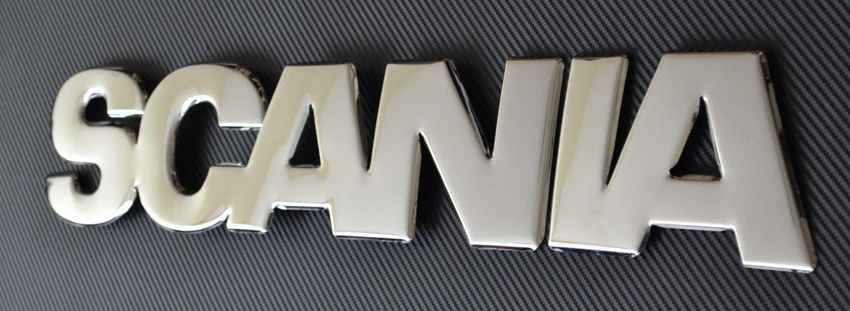 Badge avant en acier inoxydable press/é 3D pour Scania S//R Euro 7