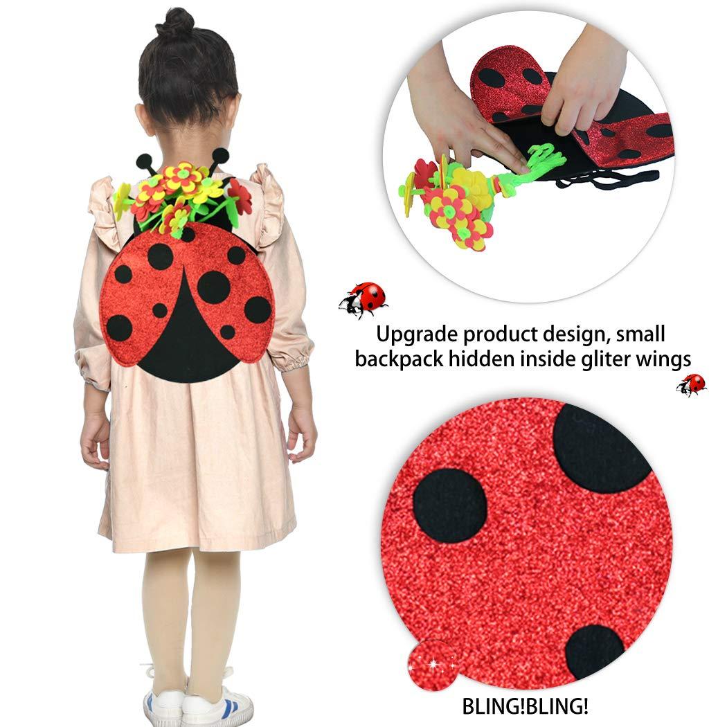 Amazon.com: Disfraz de mariquita para niños con diseño de ...
