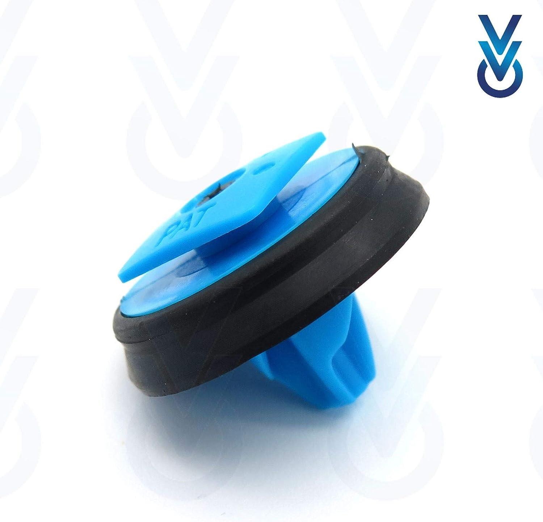 colore: Bianco Clip di fissaggio per strisce laterali in plastica confezione da 10 VVO Fasteners