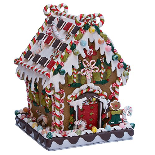 Kurt Adler 8 5/8-Inch Claydough and Metal Candy House with C7 UL Lighted ()