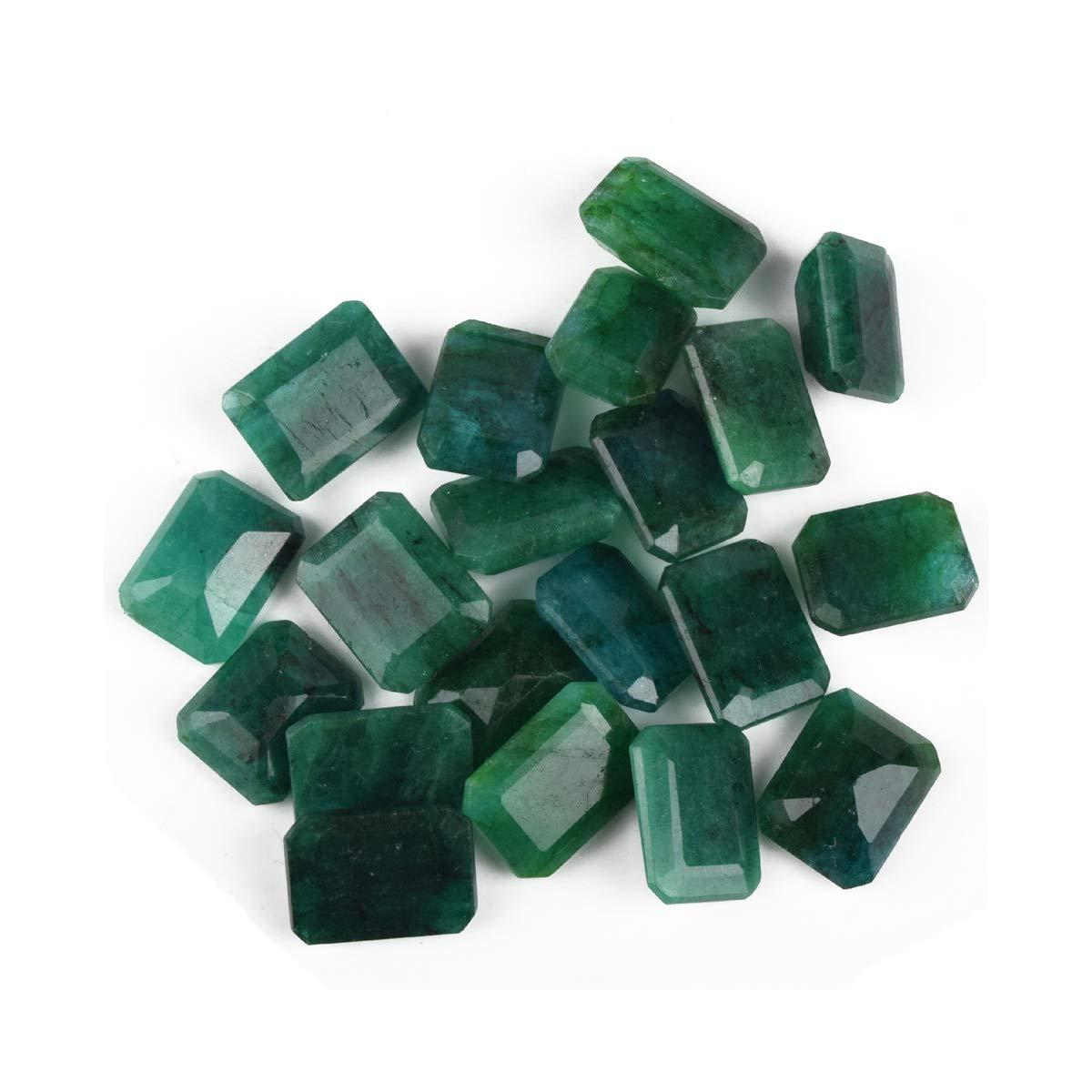 Zambian AAA++ Grade Green Emerald 200 Cts. Fine 20 Pieces Natural Green Emerald Loose Gemstones Lot