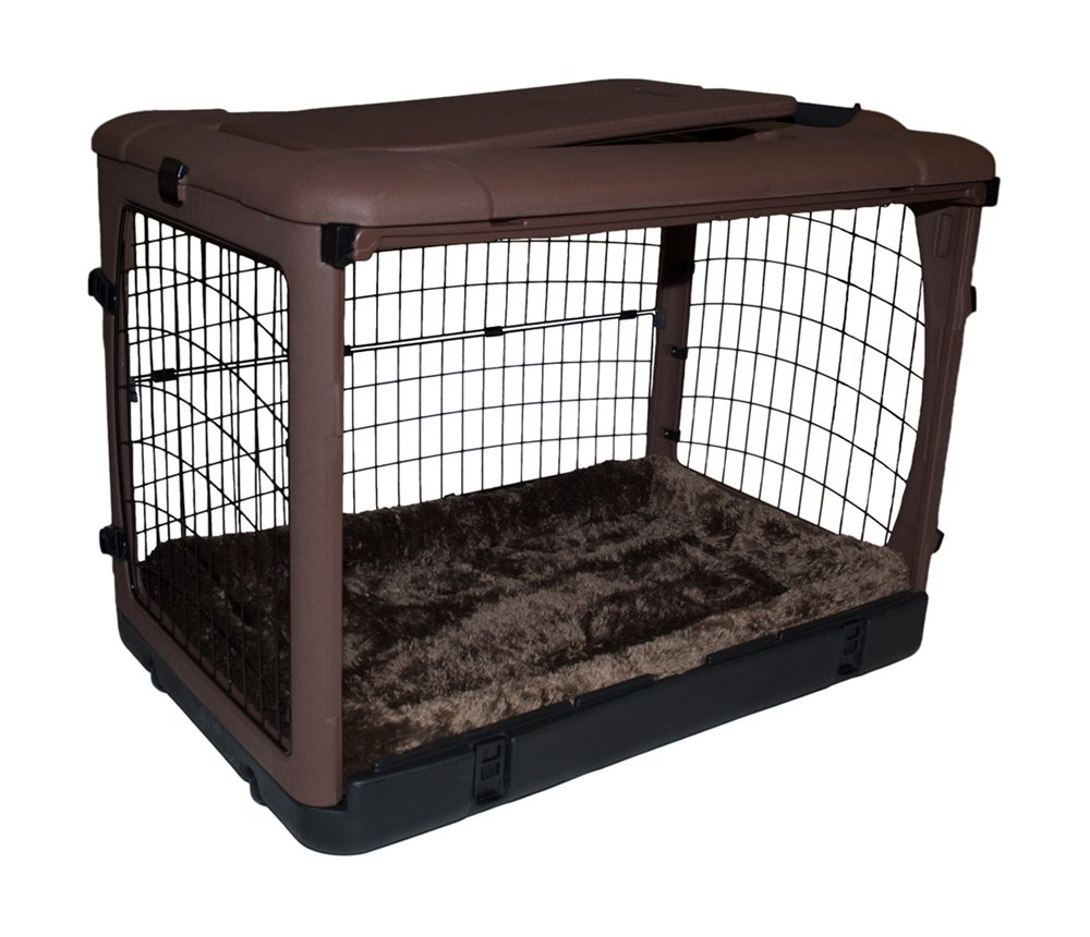 Amazon Pet Gear The Other Door Steel Crate With Fleece Pad For