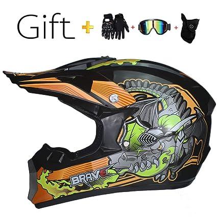 Amazon com: BHQF Motocross Helmet, Adult Helmet Four Seasons