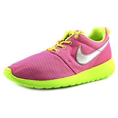 24cae58f1a0a Nike Rosherun (GS) Girl s Sneakers In Pink Green (599729-501)