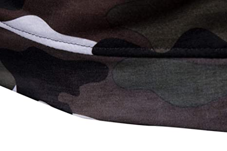 Chaqueta de Hombre de BaZhaHei, Sudadera con Capucha de Manga Larga para Hombre de Camuflaje Casual de Manga Larga de otoño de Camisetas con Capucha Camo de ...