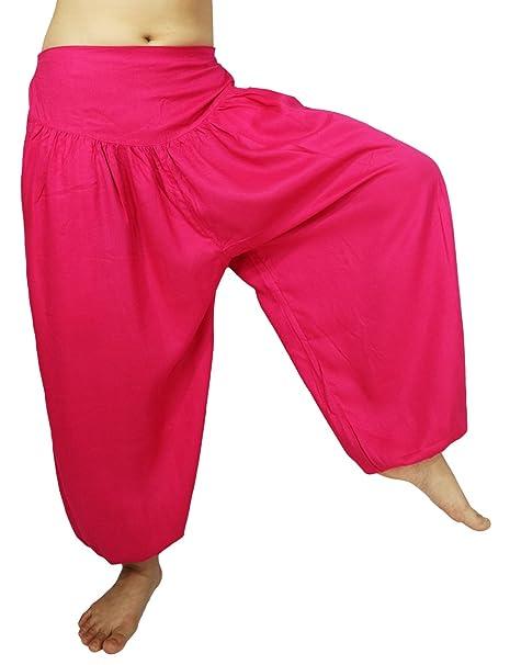 Lovely Creations Womens Loose Harem Aladdin Yoga Elastic Waist Casual Pants