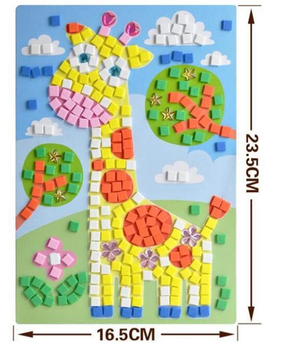 Zicue Educativos Niños Jigsaws Interesante Puzzle de Cristal Aprendizaje Temprano Juguete Niños (Jirafa)
