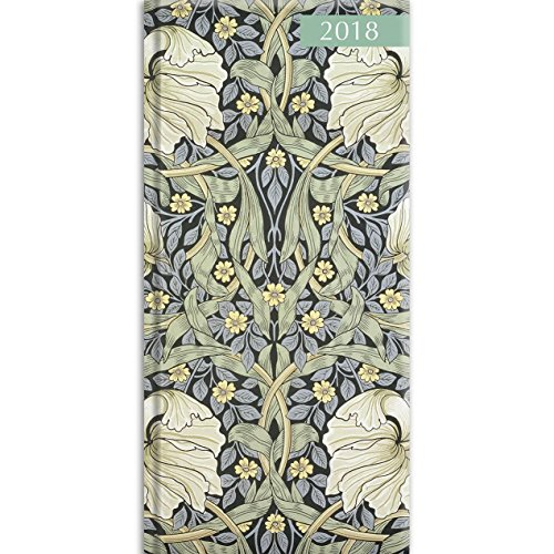2018 William Morris Pocket Diary - 3.34 x 6.8 x 0.47 Inches