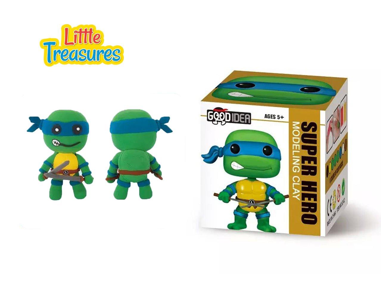 Amazon.com: Tortugas Ninjas Juego de 2 Sculpting DIY play ...