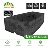 KINGDOWAY 137'' Outdoor Patio Furniture Covers Waterproof 600D Oxford Polyester Durable Water Resistant Extra Large Size Furniture Set Covers Fits To 12-14 Seat (137.8'' x 102.4'' x 35.4'')
