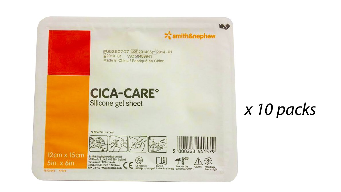 CICA-CARE Gel Sheet by Smith and Nephew 5x6'', 10 pks