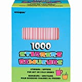 Plastic Striped Drink and Coffee Stirrers, 1000ct