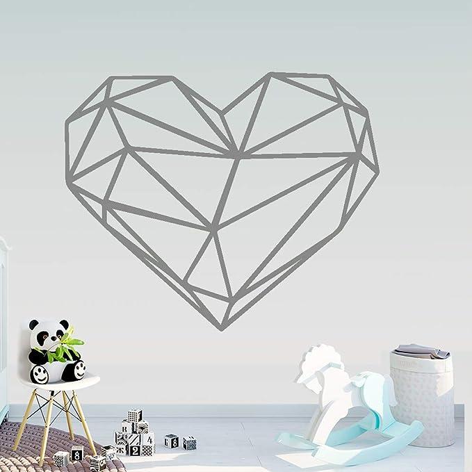 yiyiyaya Creatividad Geometría Corazón Pegatinas de Pared ...