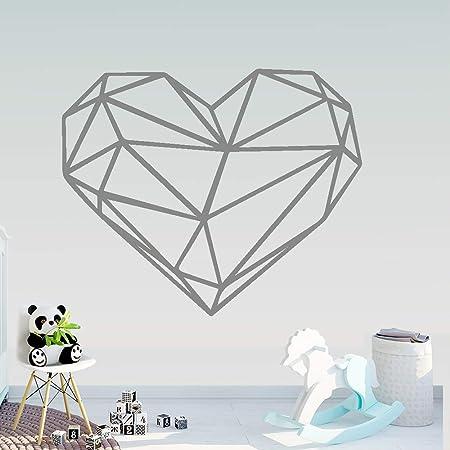 yiyiyaya Creatividad Geometría Corazón Pegatinas de Pared Arte de ...