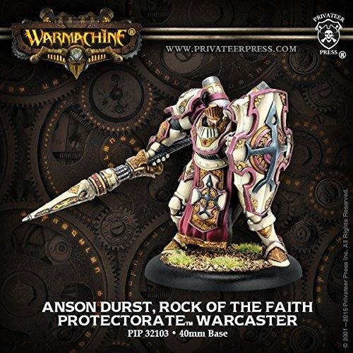 Warmachine Protectorate of Menoth Anson Durst, Rock of the Faith Paladin Warcaster