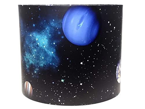 Space Light Shade Lampshade Accessories For Kids Themed Bedroom Shuttle Planet Gifts Amazon Co Uk Handmade