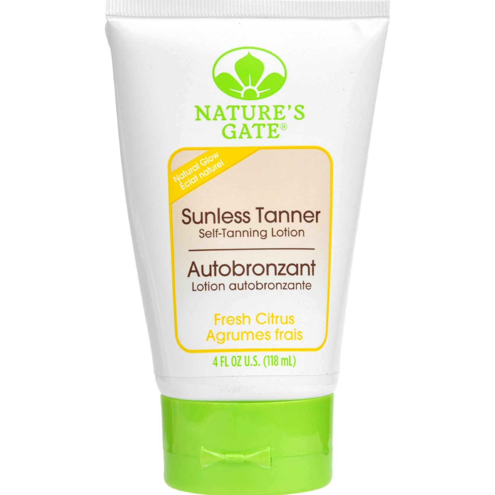 Natures Gate Sunless Tanner - Self Tanning Lotion - Natural Glow - Paraben Free - 4 fl oz (Pack of 4)