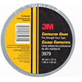3M Contractor Grade Pro Strength Duct Tape 3979 Silver, 1.88 in x 60 yd – Industrial Multi-Use Professional Adhesive, 1 Pack
