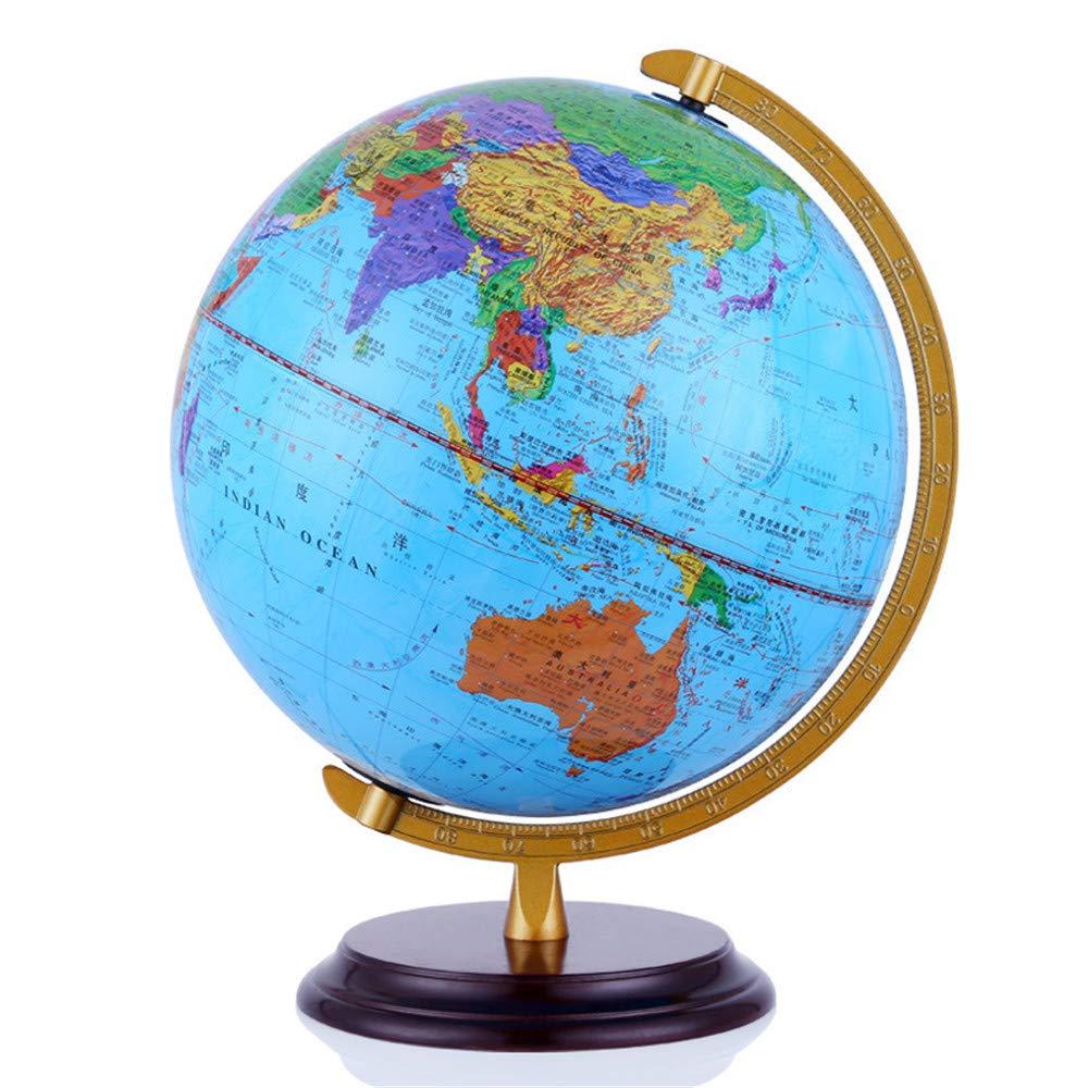 Wenzhihua Kinder - Bildung HD World Globe, 32CM Bildung World Globe Geschenk Home Desk Decor Geography Science