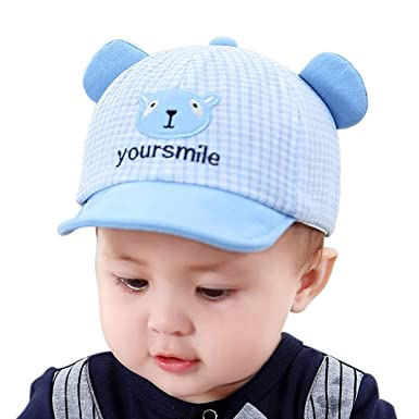 Sharlife Ajustable Algodón Bebé Infantil Sombrero para el Sol ...