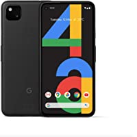"Google Pixel 4a (4G) G025N 128GB, 5.8"" inch Factory Unlocked 4G/LTE Smartphone (Just Black) - International Version"
