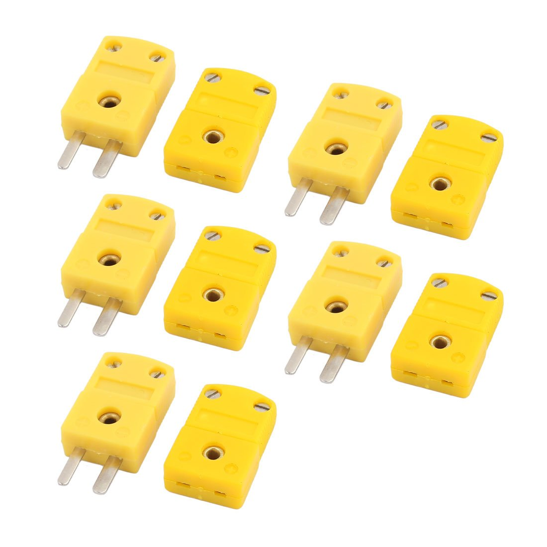 uxcell 5Pcs SMPW-K-M//F K Type Thermocouple Temperature Measuring Wire Female Socket Connector
