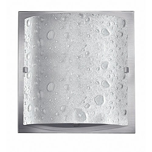 (Hinkley 5920BN-LED Contemporary Modern One Light Bath from Daphne collection in Pwt, Nckl, B/S, Slvr.finish,)