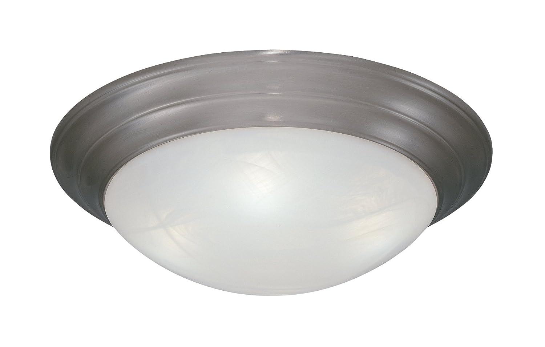 1257l orb al flushmount ceiling light oil rubbed bronze 3 light 15 fixture led household light bulbs amazon com