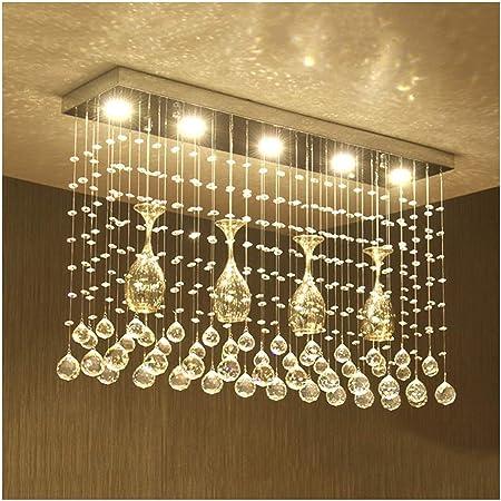 Lamparas de techo Luz Colgante de Lujo Moderna, Colgante de Cristal Decoración de Sala de Estar LED, Dormitorio Mesa de Comedor Escalera Techo del Hotel Lámpara,lamparas Colgante: Amazon.es: Hogar