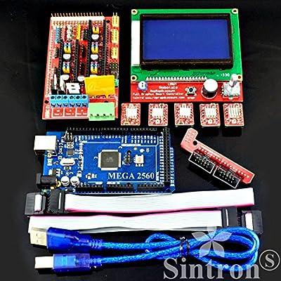 Sintron] 3d controlador de impresora Kit RAMPAS 1,4 + Mega 2560 R3 ...