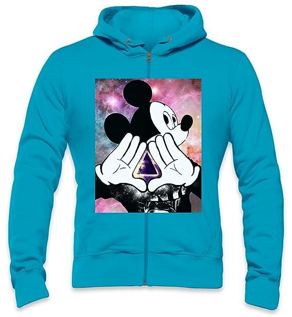 Galaxy Illuminati Mickey Mouse Mens Zipper Hoodie Medium: Amazon.es: Ropa y accesorios