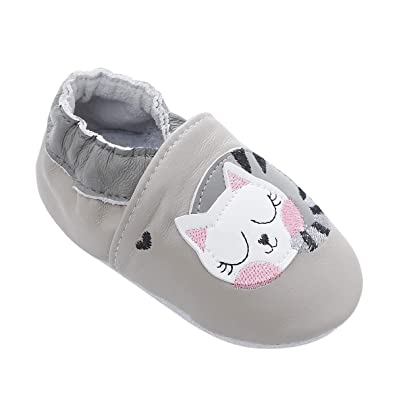 153e1b1aabcfc Chaussures de bébé en Cuir Souple avec Mocassins Semelles en Daim pour Enfants  Chaussures Tout-