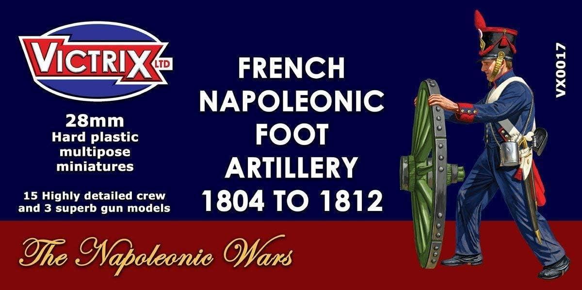 Victrix VX0017 - Artillería Napoleónica Francesa 1804-1812 - Juego De 15 Cajas De Figuras Y 3 Modelos De Pistola - Miniaturas De Plástico De 28 mm Napoleónicas