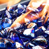 Celestial Fire Glass Diamonds - Cobalt Blue Luster