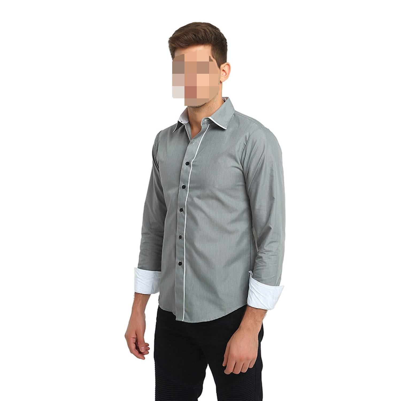 Mens 3XL Black Grey Red 2018 New Slim Mens Shirts Fashion Casual Men Tops,Black,Asia Size 3XL