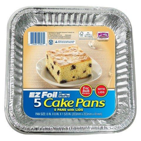 Hefty EZ Foil Cake Pans 5 ct